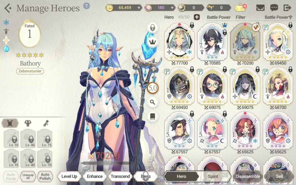 Exos Heroes offers a very unique way to keep leveling up your characters to progress in-game.